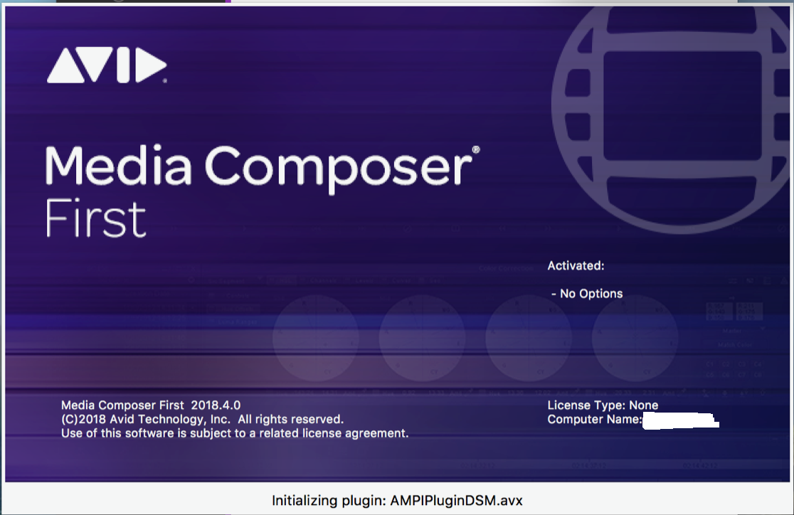 Media Composer | First hangs on AMPlPluginDSM avx error