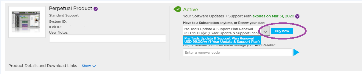 How to renew Annual Software Updates + Support Plans