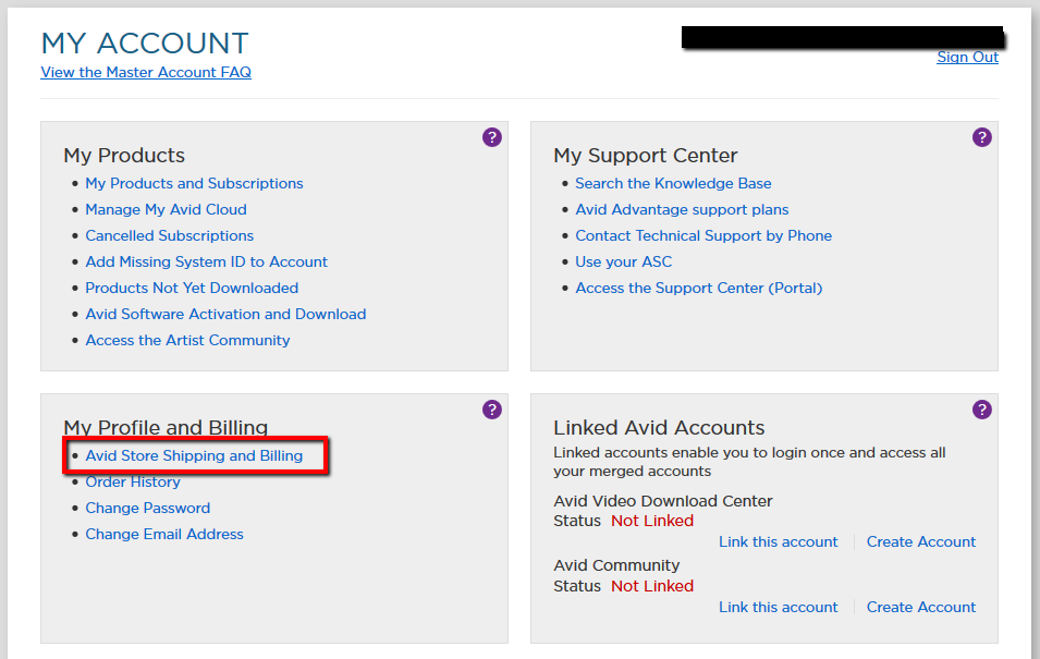 afeb3db0f265 Avid Online Store  How to update my billing or shipping address